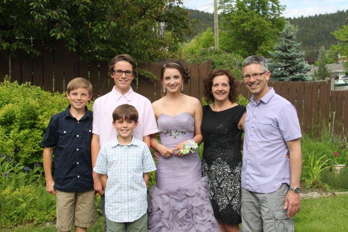 Family photo - Grad 2014