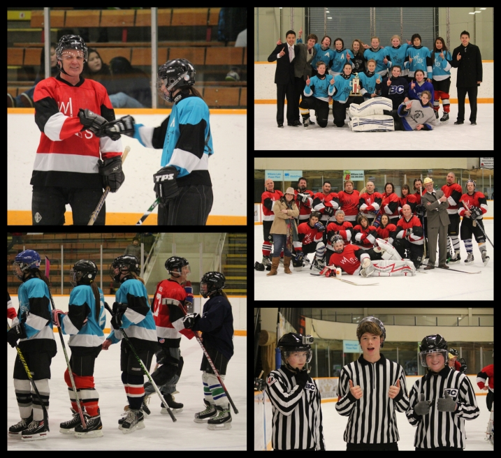 Williams Lake Secondary's 3rd annual Hockey Classic had the girls soundly defeating the staff 5-0.  In spite of the drubbing, a fun time was had by all.