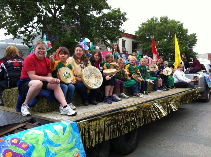 The other side of Wildwood's float in the Aboriginal Day parade