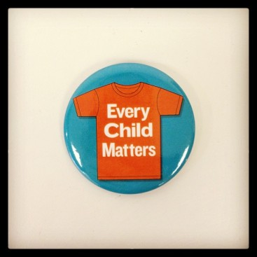 "Every school had received enough ""every Child Matters"" pins for all staff and students."