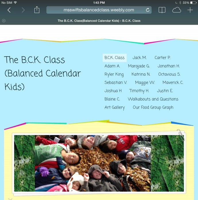 Last year's Balanced Calendar Class website