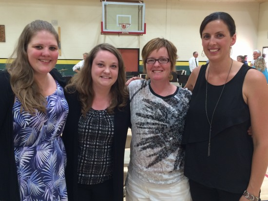 School district music teachers (l-r) Laura Eilers, Vanessa Toews, Dena Baumann & Jasmine Kreschuk