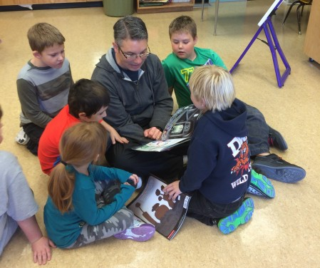 Spending some time reading with students in Mrs. Farkas's K-2 class at Horsefly School. The best part of my job!