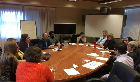 The Minister met with the SD27 Board of Education for a lunch meeting about the district's successes and challenges.